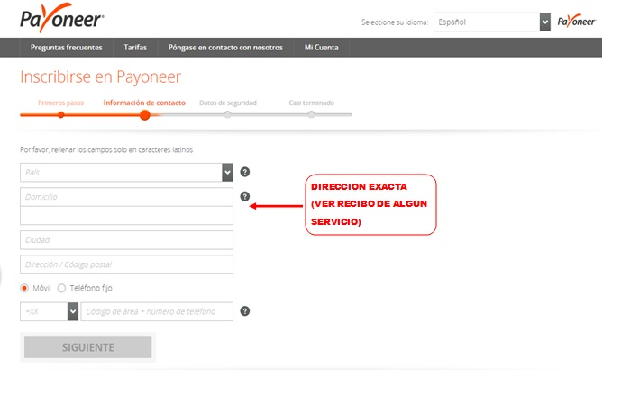 Tarjeta Payoneer De Credito MasterCard