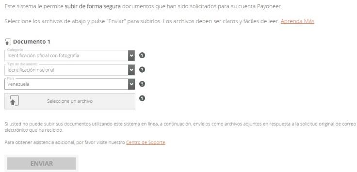Verificar Cuenta Payoneer
